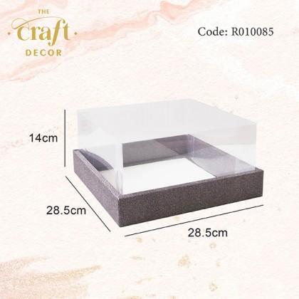 28.5x14x28.5cm Glitter PVC Box