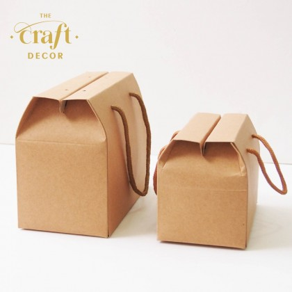 10pcs Brown Kraft Paper Box