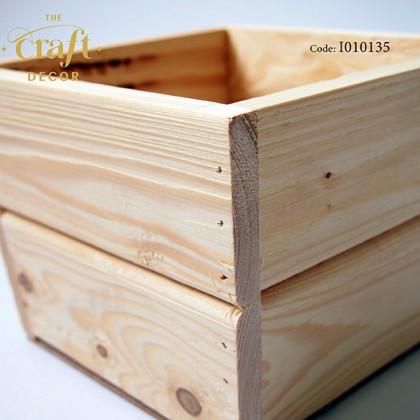 14x17.5x15cm Wooden Vase