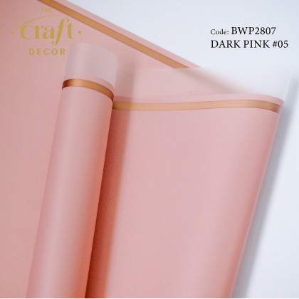 20Sheets Gold Rim Line Flower Wrapping Paper