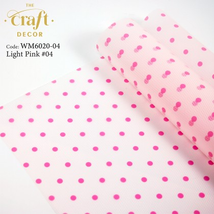 20Sheets Polka Dot Flower Wrapping Paper