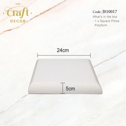 White Round/Square Pillow Polyform