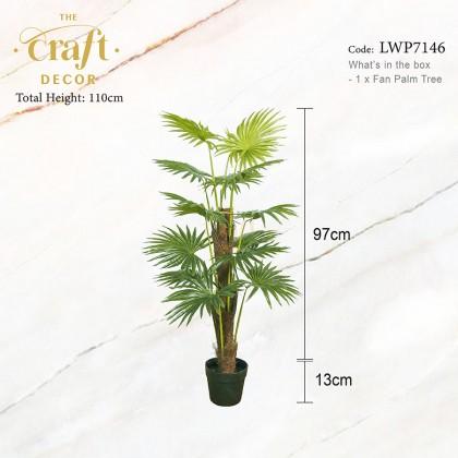 110cm / 140cm Fan Palm Tree